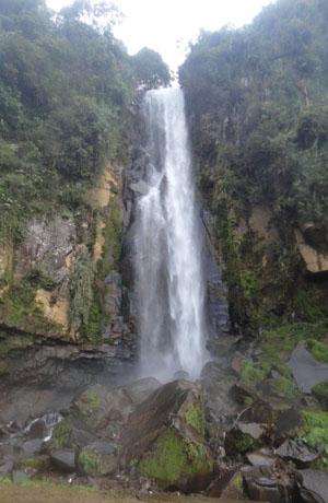 Merawu Waterfall in Giri Tirto Village